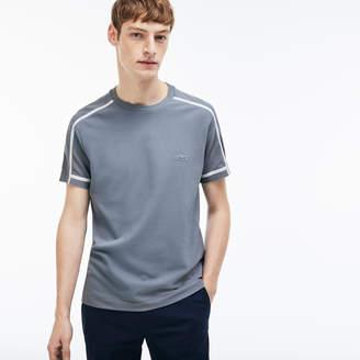 Lacoste Men's Crew Neck Thick Piping Cotton Petit Pique T-shirt