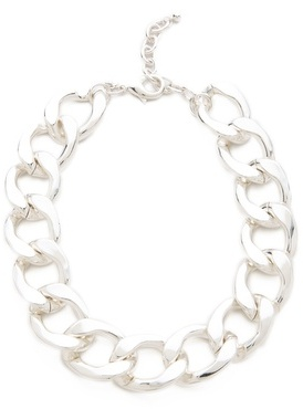 Kenneth Jay Lane Large Flat Link Necklace