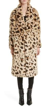 Junya Watanabe Faux Fur Leopard Coat