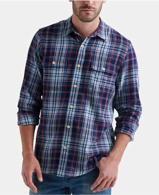 Lucky Brand Men Two-Pocket Workwear Plaid Shirt