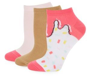 Six-Pack Low Cut Ice Cream Socks