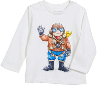 Mayoral Long-Sleeve Pilot Graphic Tee, Size 6-36 Months