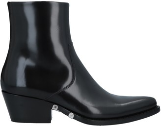 647f3f33dae Calvin Klein Black Lined Leather Women s Boots - ShopStyle