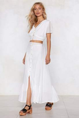 Nasty Gal Button Up and Drive Maxi Skirt