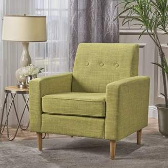Augustine Noble House Mid Century Modern Fabric Club Chair, Muted Green