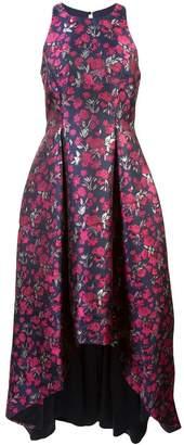 Aidan Mattox sleeveles floral jacquard gown