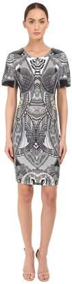 Just Cavalli Leo Snake Bodycon Jersey Dress Women's Dress