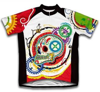 Scudo Elegant Skull Microfiber Short-Sleeved Cycling Jersey, Assorted Sizes