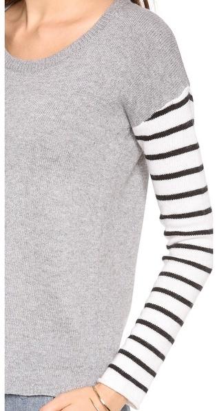 Splendid Stripe Blocked Long Sleeve Sweater