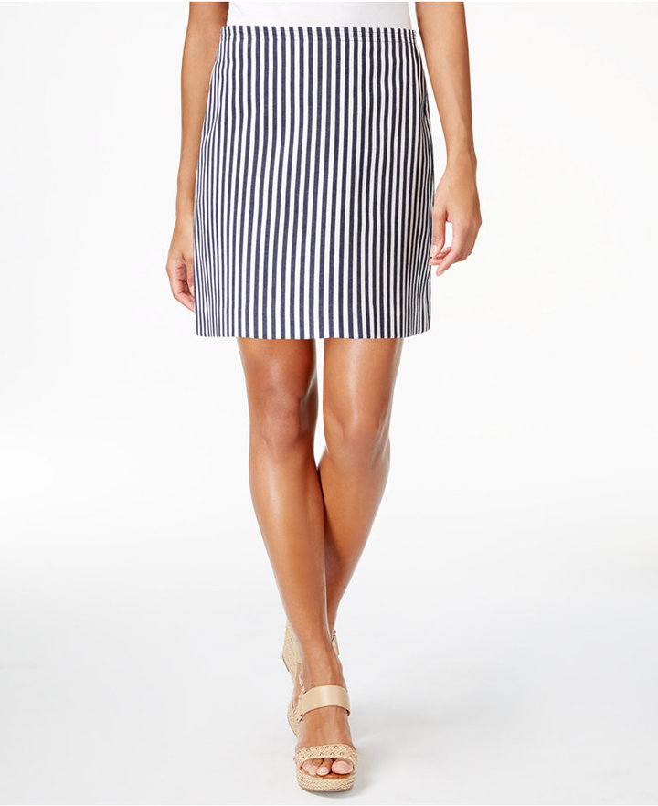 Trina Turk Striped Twill Skirt
