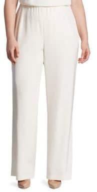 Lafayette 148 New York Lafayette 148 New York, Plus Size Studio Stretch-Silk Pants