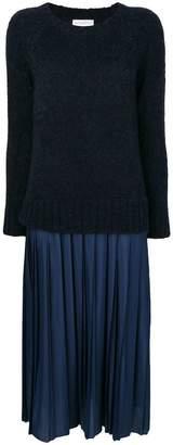 Ballantyne pleated knit dress