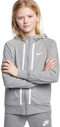Nike Girl's Full-Zip Cotton Hoodie