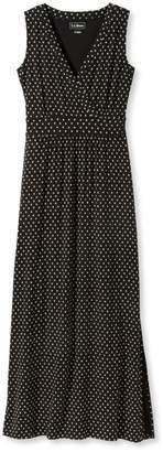 L.L. Bean L.L.Bean Summer Knit Maxi Dress, Sleeveless Beach Pebbles Print