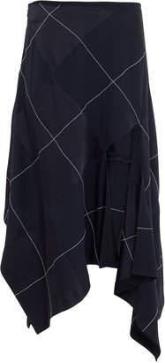 Monse Argyle Asymmetrical Skirt