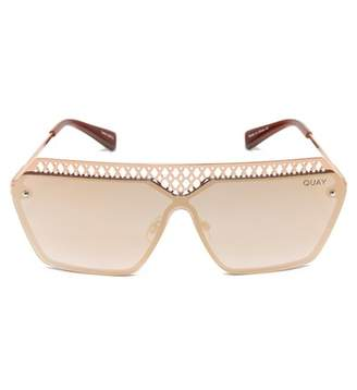 Quay Hall of Fame 73mm Shield Sunglasses