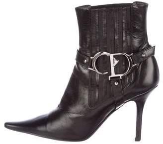 Christian Dior Logo Stirrup Booties