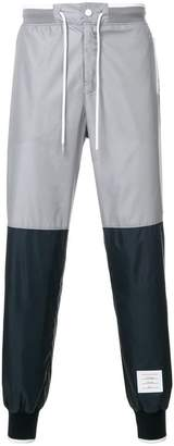 Thom Browne Bicolor Half-And-Half Ripstop Sweatpants