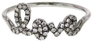 Sydney Evan Diamond Love Ring - Black Gold