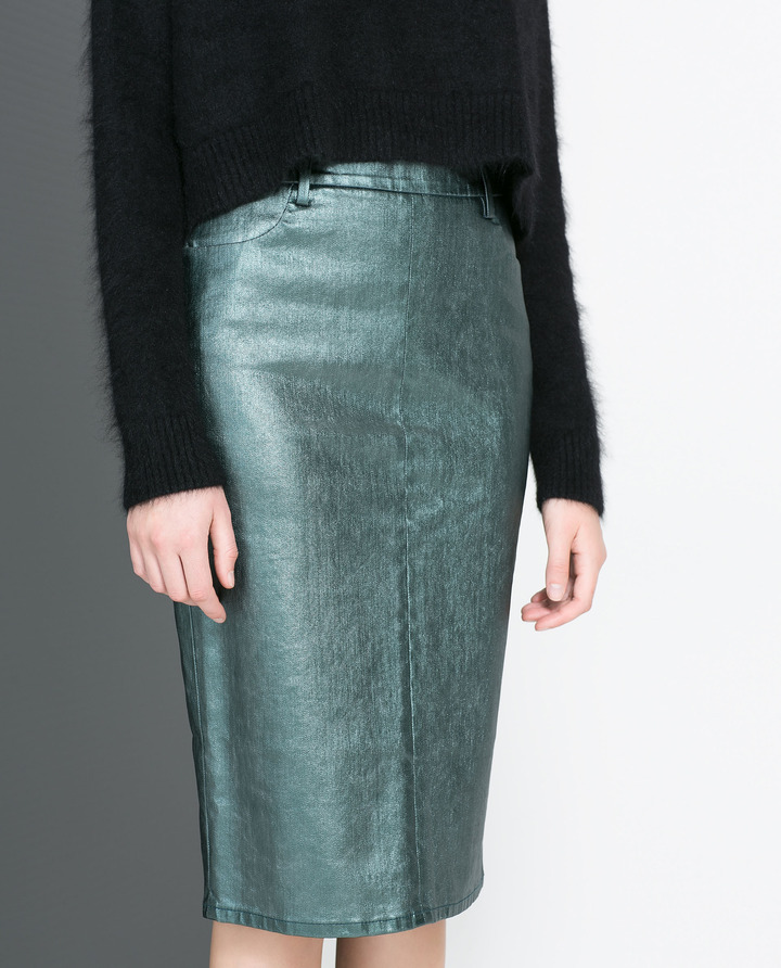 Zara Coated Skirt