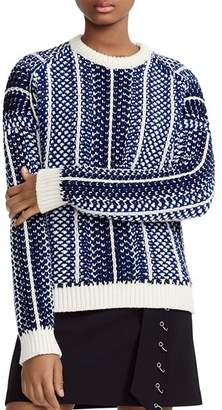 Maje Manihi Geo-Pattern Sweater