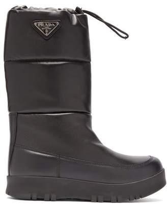 Prada Nappa Leather Apres Ski Boots - Womens - Black