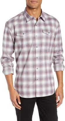 Coastaoro Regular Fit Plaid Garment Washed Sport Shirt