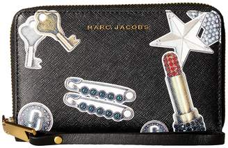 Marc Jacobs Tossed Charms Saffiano Zip Phone Wristlet