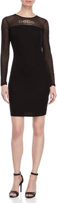 Bebe Embellished Logo Jersey Dress