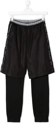 Versace TEEN layered track pants