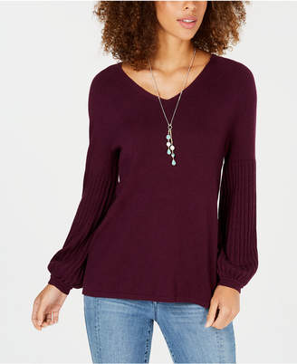 Style&Co. Style & Co Petite Bishop-Sleeve Sweater, Created for Macy's