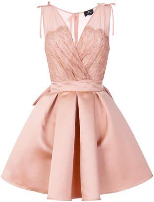 Elisabetta Franchi V-neck box pleat dress