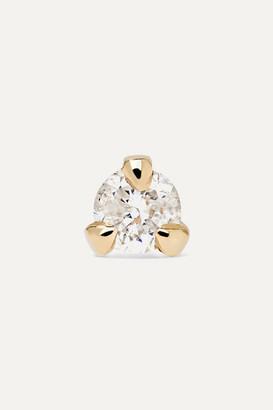 STONE AND STRAND - Teeny 14-karat Gold Diamond Earring
