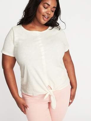 Old Navy Relaxed Plus-Size Tie-Hem Top