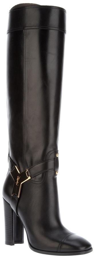 Yves Saint Laurent knee length boot