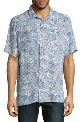 Black & Brown Black Brown Floral Short-Sleeve Button-Down Shirt