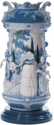 Lladro Limit.ed Ladies In The Garden Vase