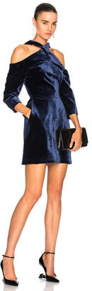 Roland Mouret Harlington Cold Shoulder Long Sleeve Mini Dress