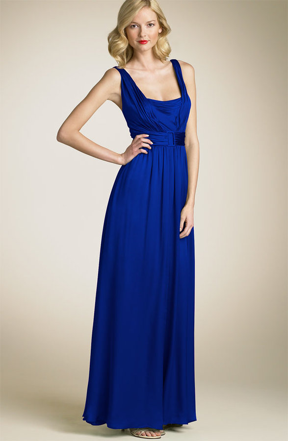 David Meister Drape Silk Gown
