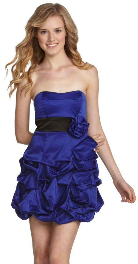 Ruby Rox Strapless Ruffle Dress