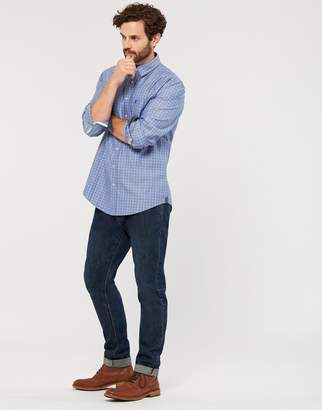 Joules Clothing Blue Check Wilby Classic Fit Shirt