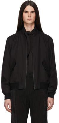 Ann Demeulemeester Reversible Black Indaco Bomber Jacket