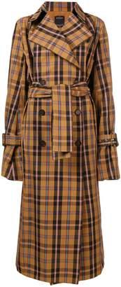 Rokh checked trench coat