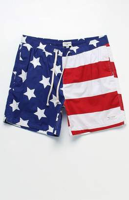 "Modern Amusement Stars And Stripes 17"" Swim Trunks"