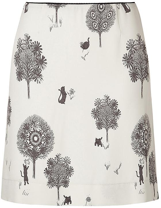 SEE BY CHLOE Ecru Printed Skirt