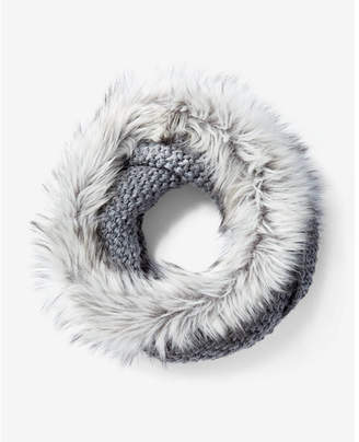 Express faux fur collar snood $49.90 thestylecure.com