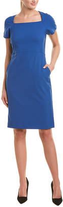 Lafayette 148 New York Pocket Wool-Blend Sheath Dress