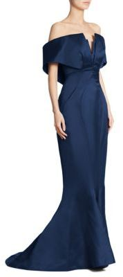 Zac Posen Off-the-Shoulder Gown $5,990 thestylecure.com