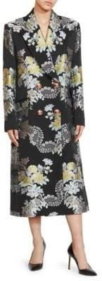 Erdem Almeda Rose Jacquard Coat