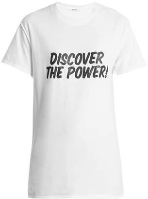 BLOUSE Discover the power-print cotton T-shirt